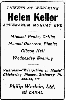 TodayInNewOrleansHistory/1916March19HelenKellerAtAthenaemTP.jpg